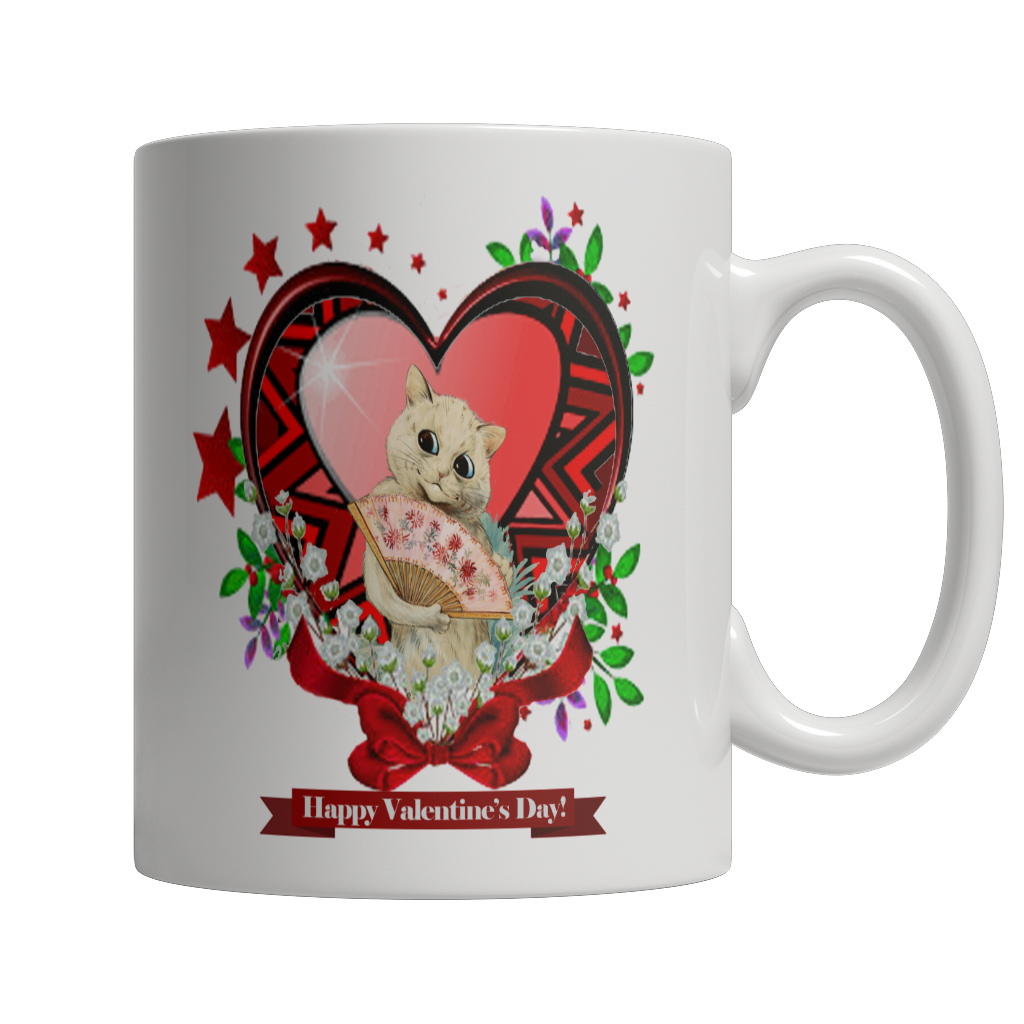 Valentine's Day Red Heart Star Mug