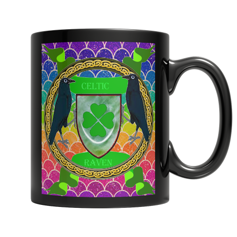 Celtic Raven Dark Mug