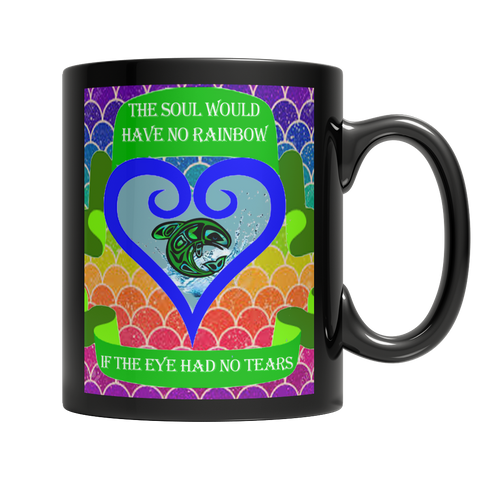 Rainbow Soul Black Mug - Native American