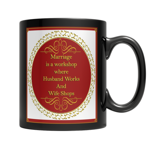 Funny Marriage Dark Mug