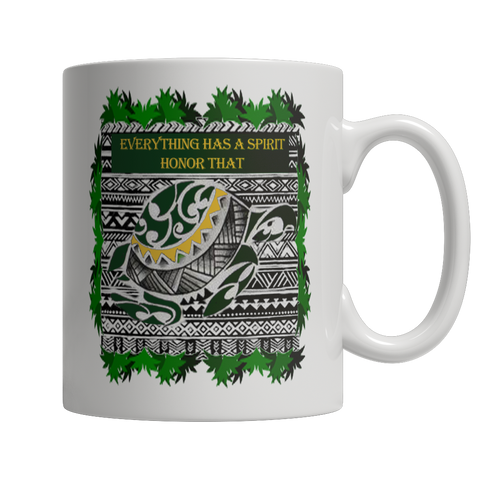 Turtle Spirit White Mug - Native American Mug