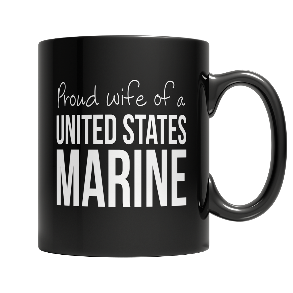 Proud Wife of A United States Marine Dark Mug
