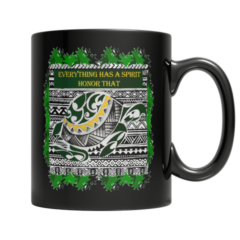 Turtle Spirit Black Mug - Native American Mug