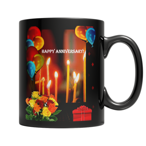 Happy Anniversary Dark Mug
