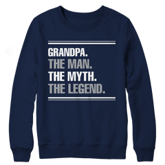 Limited Edition - Grandpa the man the myth the legend Crewneck Fleece