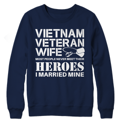 Limited Edition - Vietnam Veteran Wife Crewneck Fleece