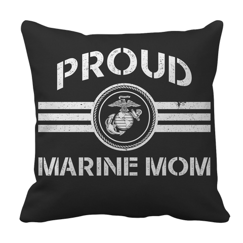 Limited Edition - Proud Marine Mom Pillow Case