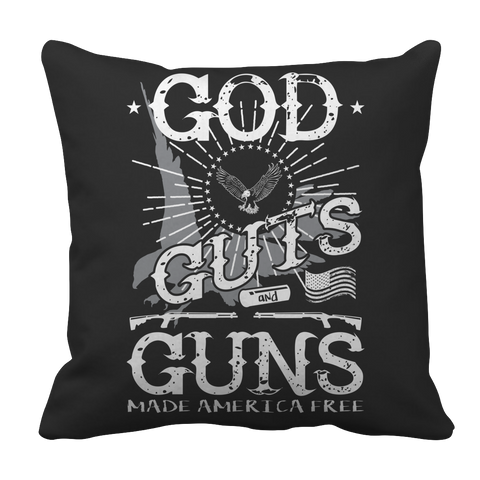 Limited Edition - God Guts Guns Pillow Case