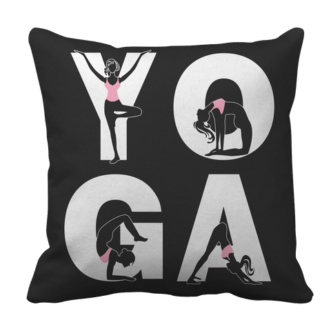Limited Edition - Yoga Positions Pillow Case