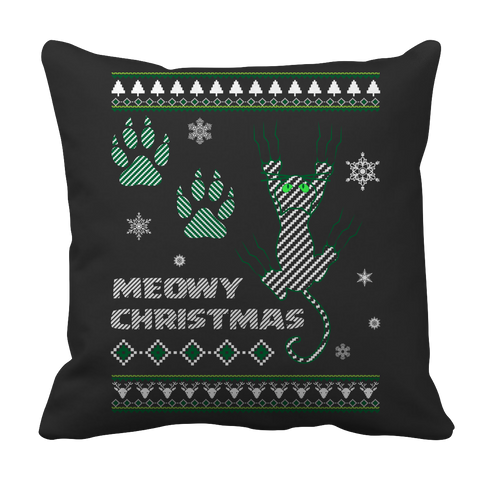 Limited Edition - Meowy Christmas Pillow Case