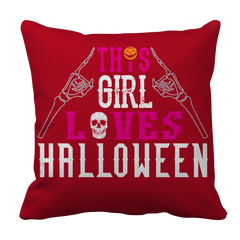Limited Edition -  This Girl Loves Halloween Pillow Case