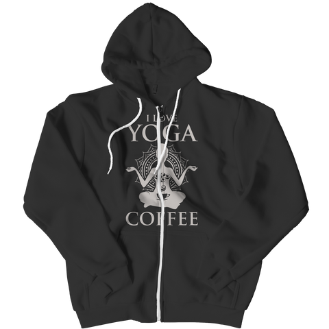 Limited Edition - I Love Yoga & Coffee Zipper Hoodie