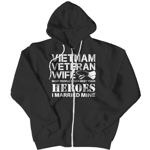 Limited Edition - Vietnam Veteran Wife Zipper Hoodie