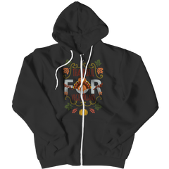 Limited Edition - I  am Thankful for Vegetarians Zipper Hoodie