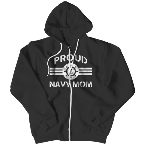Limited Edition - Proud Navy Mom Zipper Hoodie