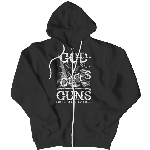 Limited Edition - God Guts Guns Zipper Hoodie