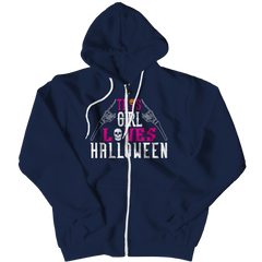 Limited Edition -  This Girl Loves Halloween Zipper Hoodie