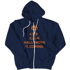 Limited Edition - Keep Calm Halloween Is Coming Zipper Hoodie