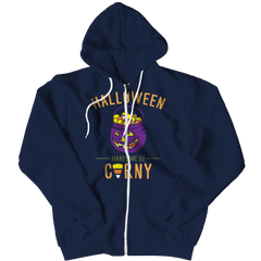 Limited Edition - Halloween Makes Me So Corny Zipper Hoodie