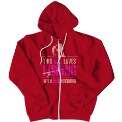 Limited Edition - This Girl Loves Fishing With Her Husband Zipper Hoodie