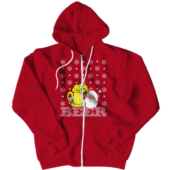 Limited Edition - Beer Christmas (#2) Zipper Hoodie