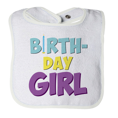 Birthday Girl Baby Bib