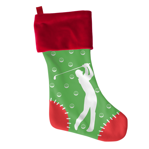 Golf Xmas Stocking - Golf Christmas Stocking