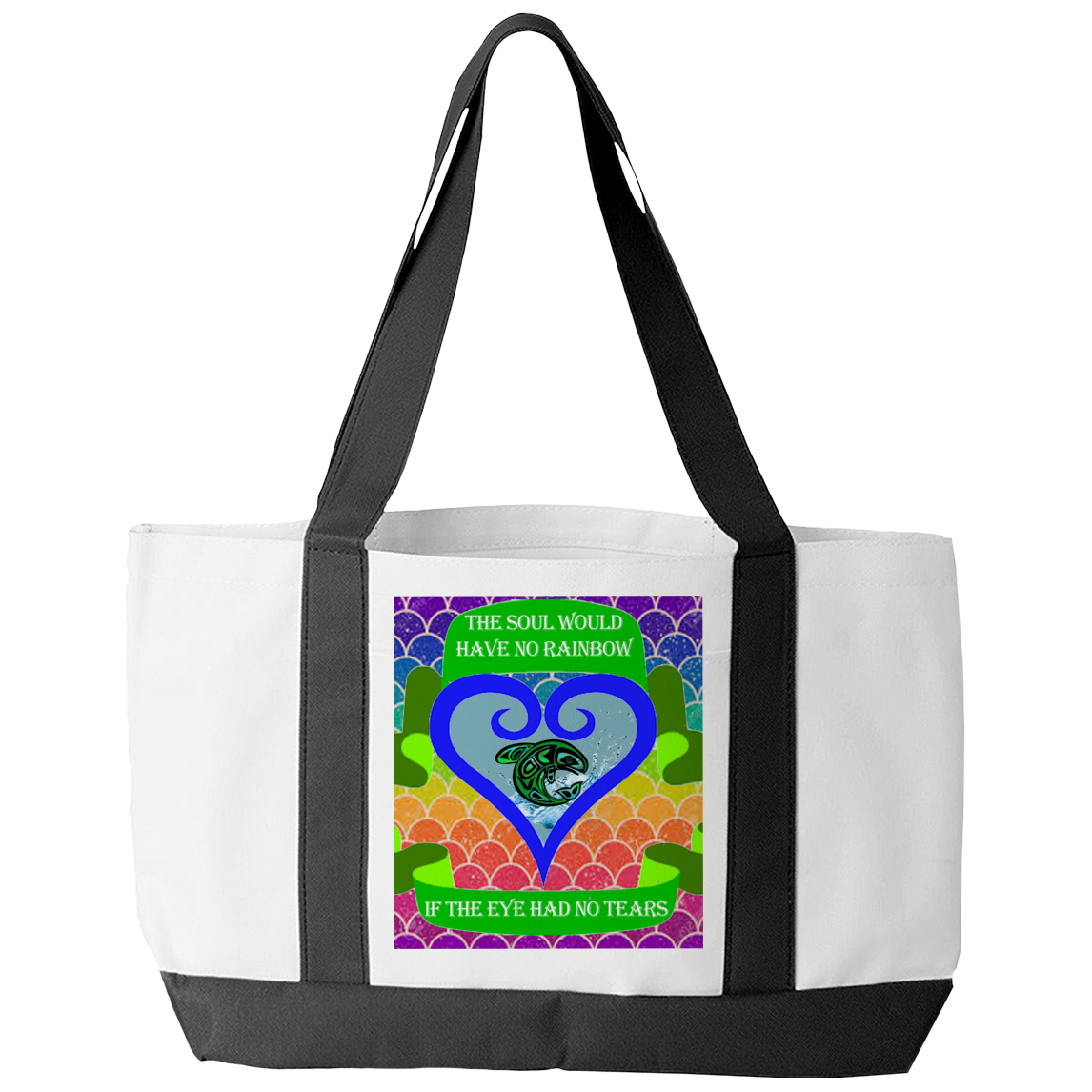 Rainbow Soul Tote Bag - Native American Tote Bag