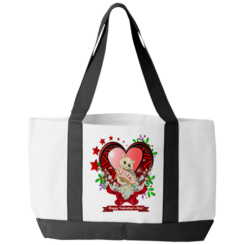 Valentine's Day Heart Stars Tote Bag
