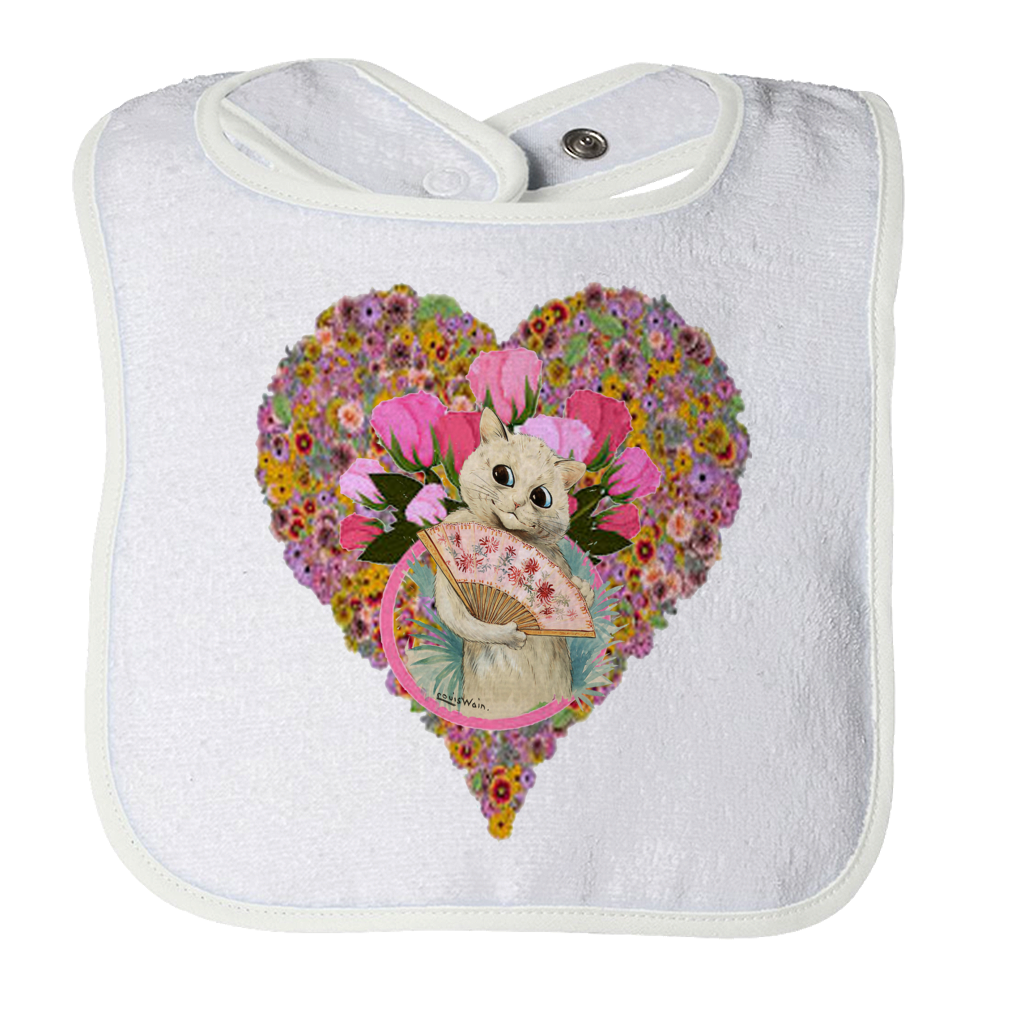 Valentine's Day Cat Heart  Baby Bib