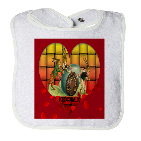 Easter Valentines Moms Day Rabbit Baby Bib