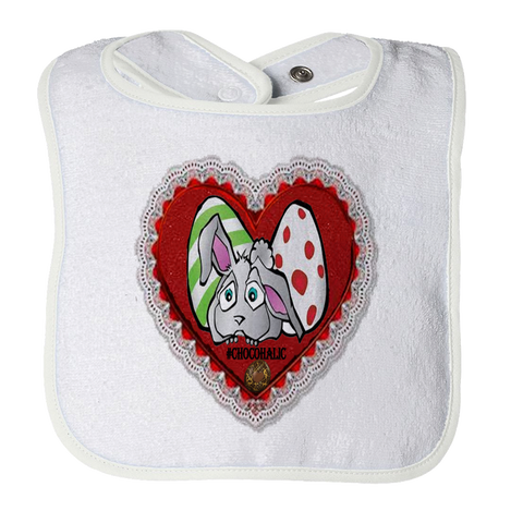 Easter Valentines Moms Day Bunny Heart Bib