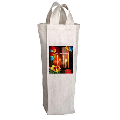 Happy Anniversary Wine Tote Bag