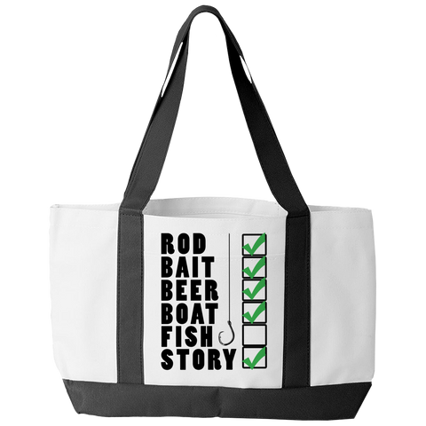 Fishing Checklist Tote Bag