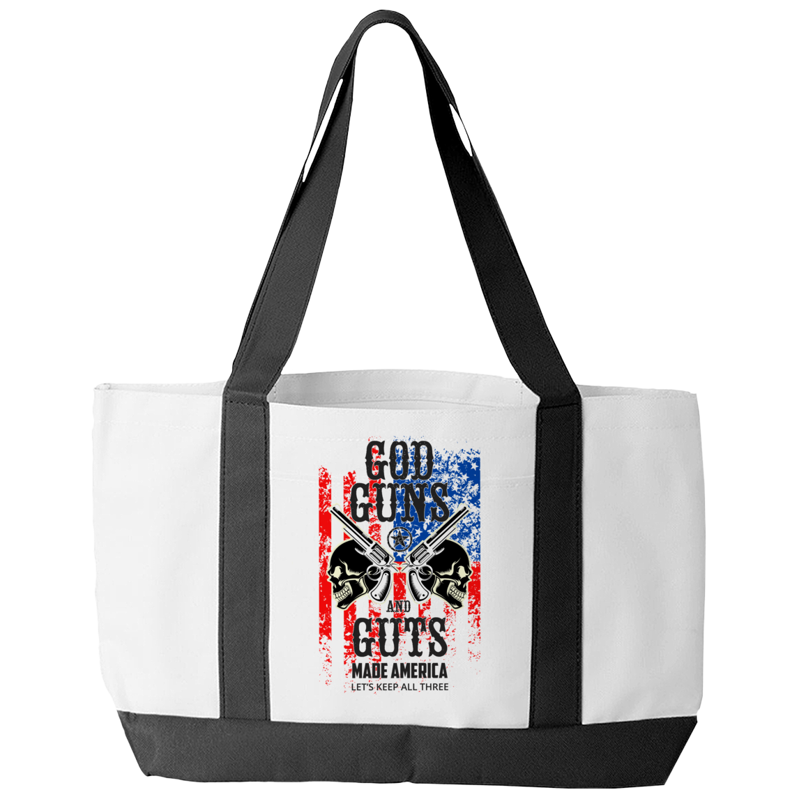 God Guns And Guts Tote Bag
