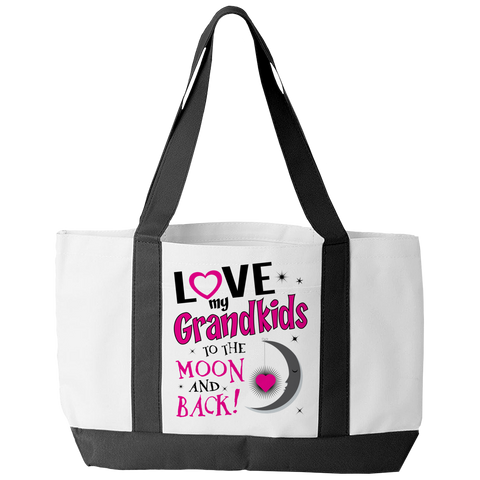 Love My Grandkids to Moon Tote Bag