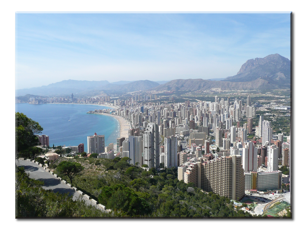 Benidorm Spain | Spanish Landscape and City | Spanish Canvas Wall Art | Large Single Panel Spanish Canvas Wall Art