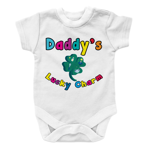 Daddy's Lucky -2 Baby Onesie