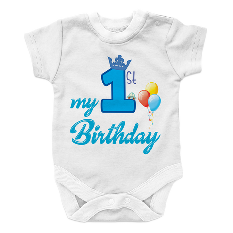 My First Birthday - BOY Baby Onesie