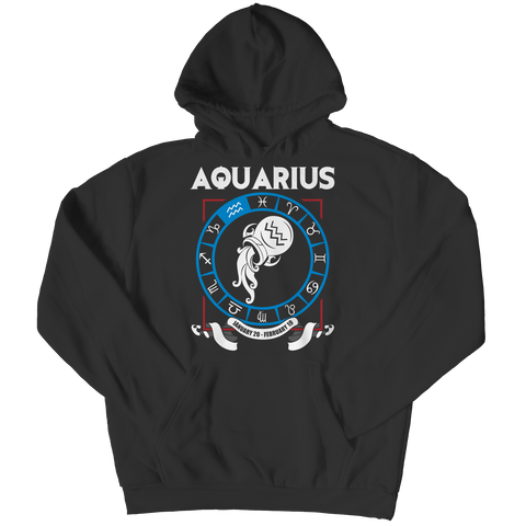Aquarius Pullover Hoodie  - Zodiac Collection