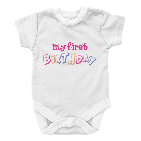 My First Birthday - GIRL Baby Onesie