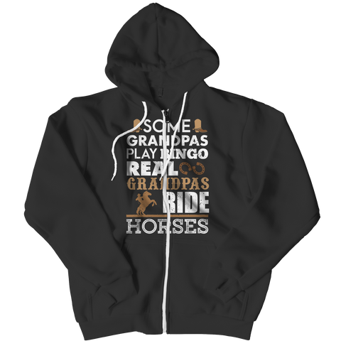 Real Grandpas Ride Horses Zipper Hoodie