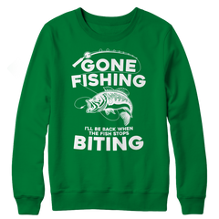 Gone Fishing Crewneck Fleece Shirt