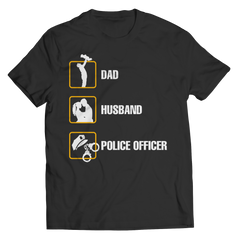 Dad Husband Police Officer Shirt