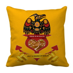 Change of Worlds Pillow Case - Native American