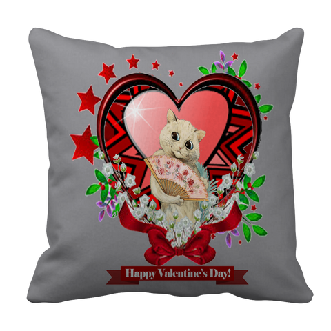 Valentine's Day Red Heart Star Pillow Case