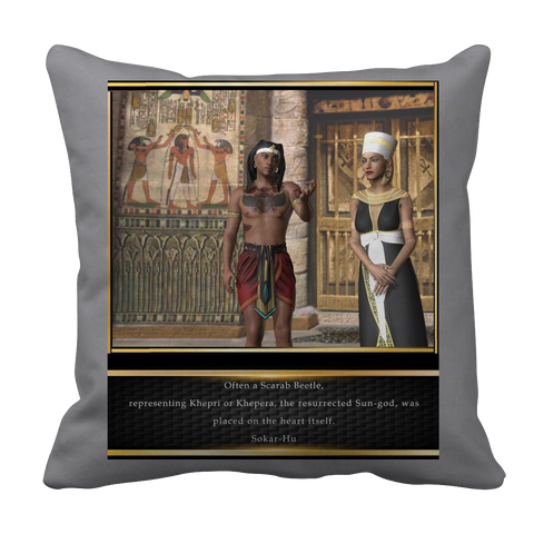 Ancient Egyptian Scarab Pillow Case