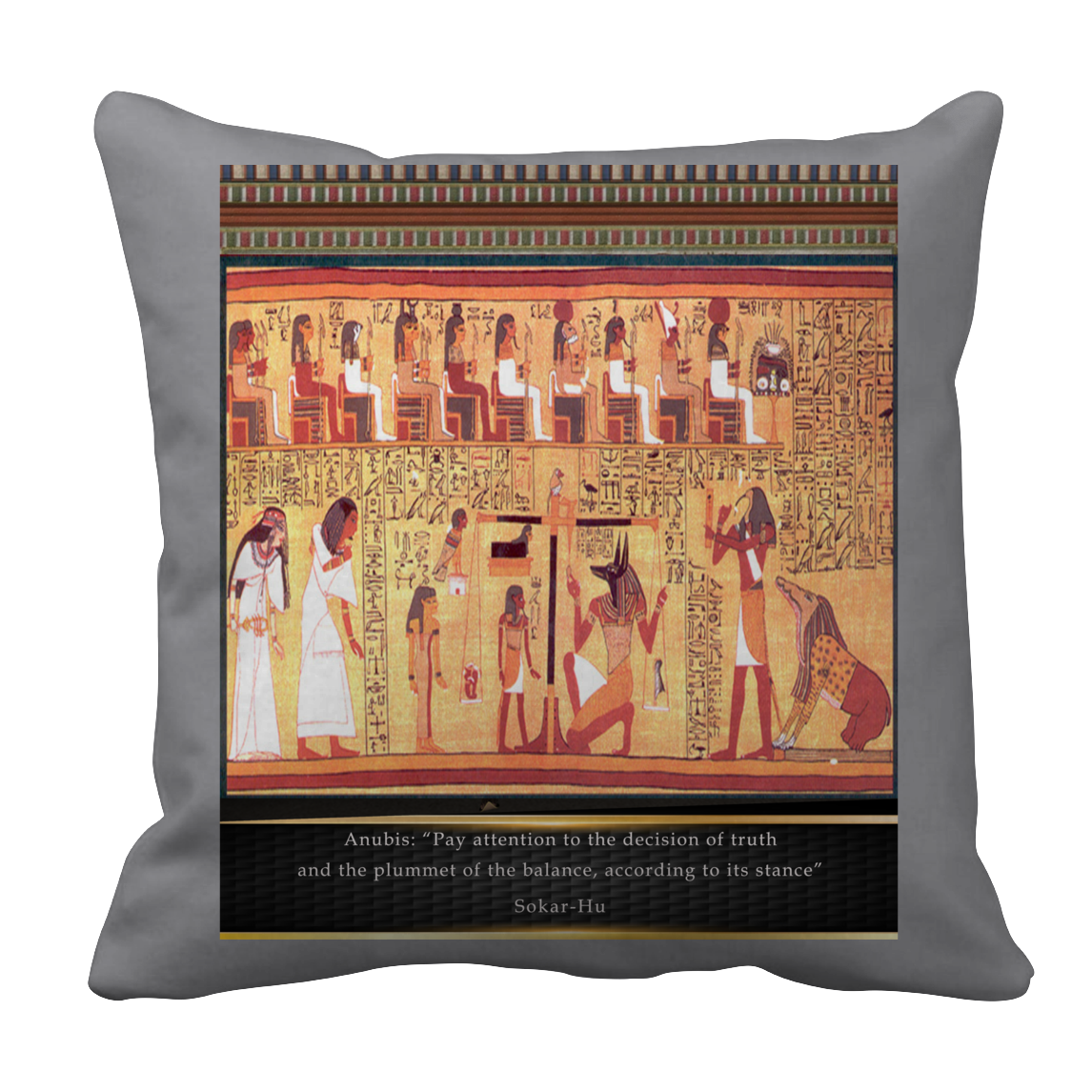 Ancient Egyptian Anubis Pillow Case