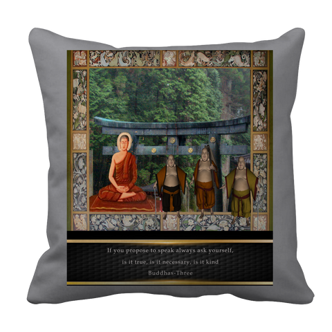 Buddhas at Temple Pillow Case
