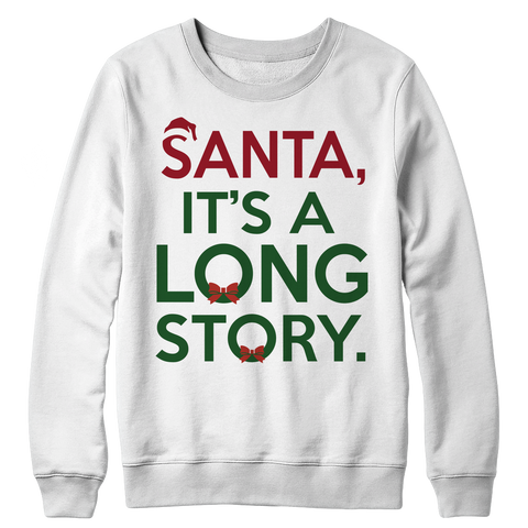 Santa Story Crewneck Sweat Shirt